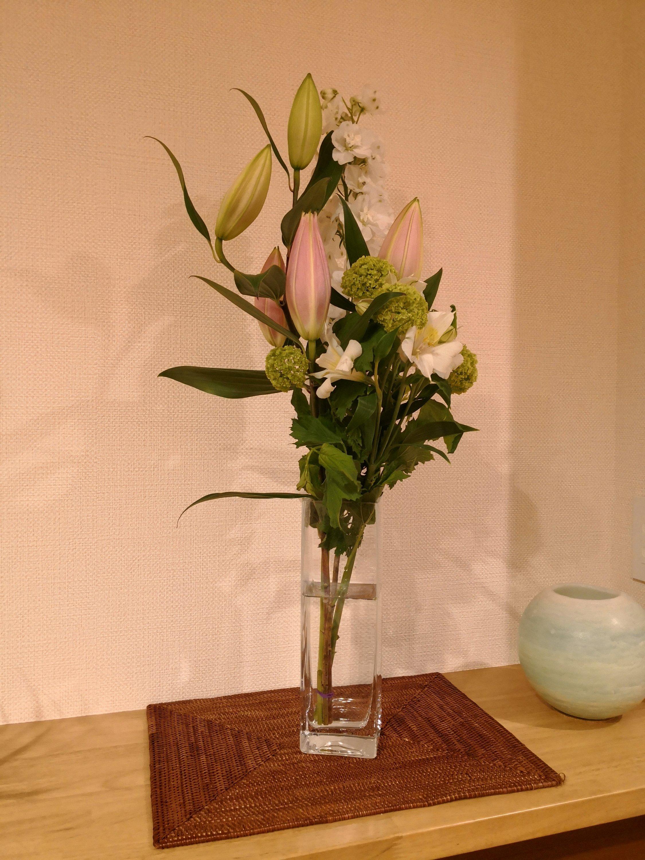 実際に届いた酒田のお花